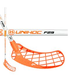 UNIHOC STICK EPIC 29 white/neon orange 100cm R-17