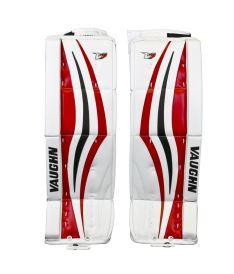 """GOALIE LEG PADS VAUGHN VELOCITY V7 XR white/black/red int - 30+2"""" - Pads"""