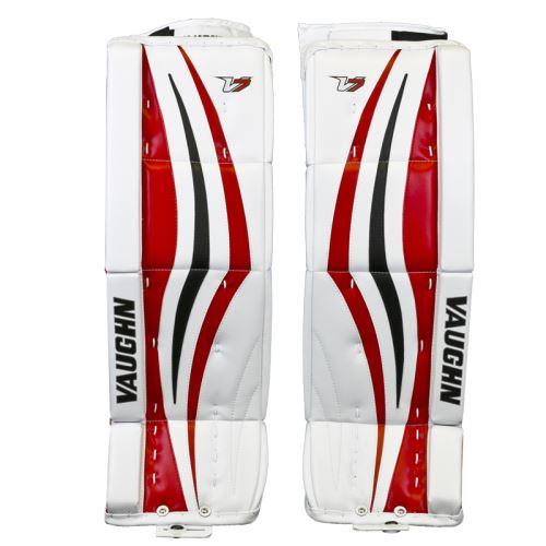 GOALIE LEG PADS VAUGHN VELOCITY V7 XR white/black/red int - 30+2