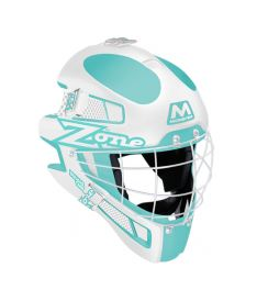 ZONE GOALIE MASK MONSTER SQUARE CAGE light turquoise/wh