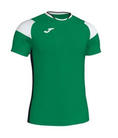 JOMA T-SHIRT CREW III GREEN-WHITE-BLACK S/S
