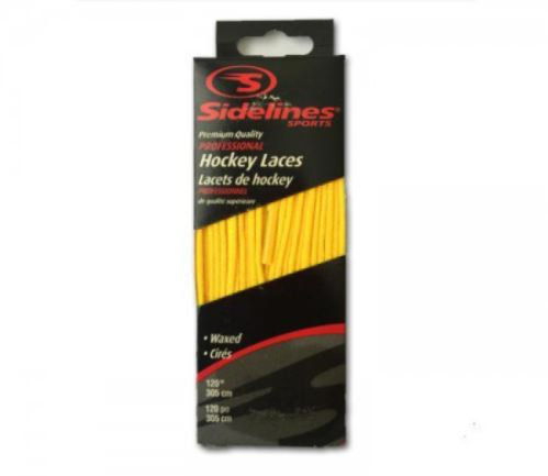 SIDELINES LACES WAX yellow - 274 - Guards, insoles, laces