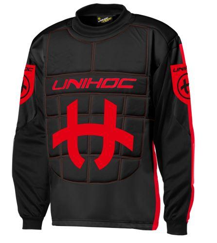 UNIHOC GOALIE SWEATER SHIELD black/neon red M - Jersey