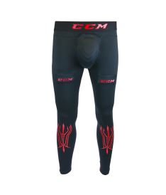 CCM COMPRESSION PANT senior - Cups, suspenders