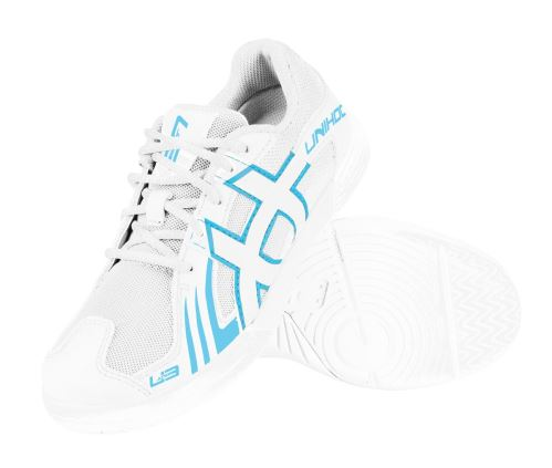 UNIHOC Shoe U3 Junior Unisex white/blue US3.5/UK2.5/EU35 - Schuhe