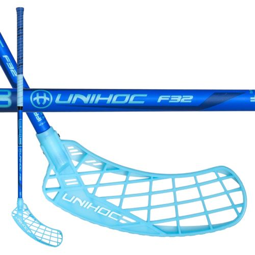 UNIHOC STICK EPIC 32 blue 92cm L-17 - Floorball sticks for children
