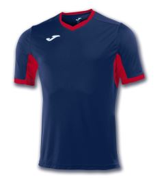 JOMA T-SHIRT CHAMPION IV NAVY-RED S/S