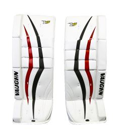 "GOALIE LEG PADS VAUGHN VELOCITY V7 XF white/black/red youth - 20+2"" - Pads"