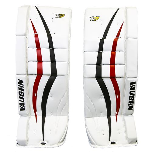 GOALIE LEG PADS VAUGHN VELOCITY V7 XF white/black/red youth - 20+2