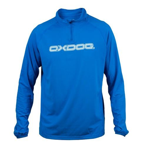 OXDOG WINTON LS WARMUP Jersey Blue L - T-Shirts