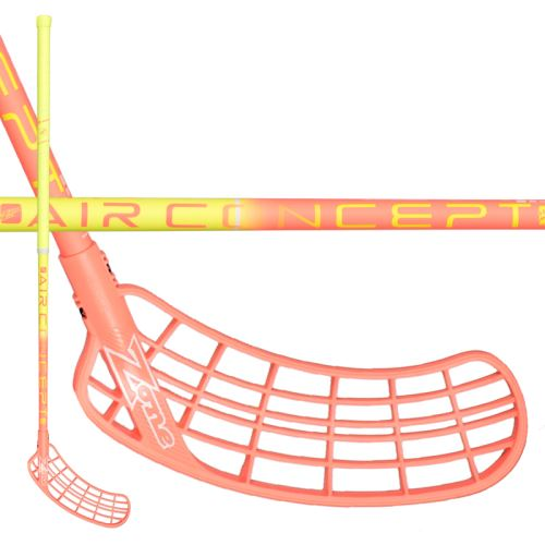 ZONE STICK SUPREME AIR SL 27 yellow/coral 100cm R-17 - Floorball stick for adults