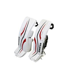 "GOALIE LEG PADS VAUGHN VENTUS LT88 white/black/red senior - 32+2"" - Pads"