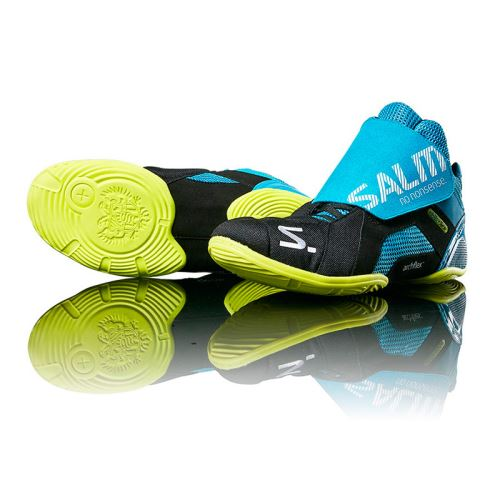 SALMING Slide 5 Goalie Shoe Cyan/Black - Schuhe