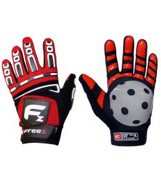 FREEZ G-180 GOALIE GLOVES red junior, M