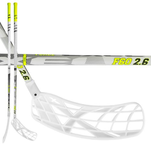 EXEL F60 WHITE 2.6 103 ROUND MB L - Floorball stick for adults
