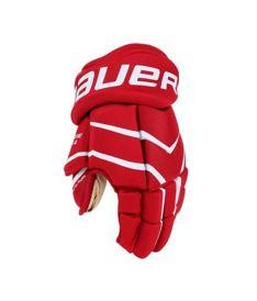 "Hokejové rukavice BAUER ONE.4 red junior - 12"""