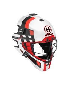 UNIHOC GOALIE MASK FEATHER 44 white/neon red