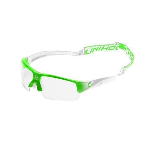 UNIHOC EYEWEAR VICTORY junior neon green/white - Protection glasses