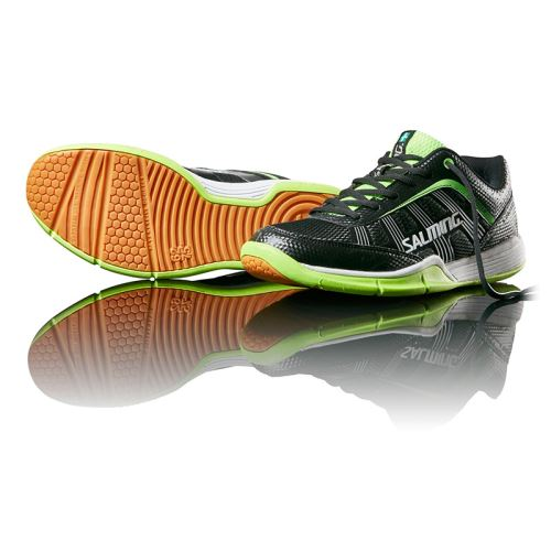 SALMING Adder Men Black/Green 6,5 UK, 40 2/3 EUR - Schuhe