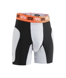 SALMING E-Series Protective Shorts White/Orange