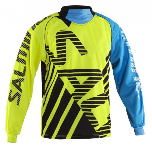 SALMING Travis Goalie Jsy SR FluoYellow/LtBlue