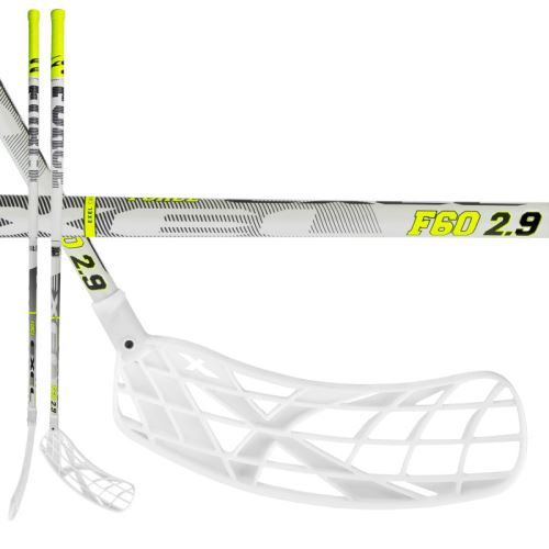EXEL F60 WHITE 2.9 98 OVAL MB L - Floorball stick for adults