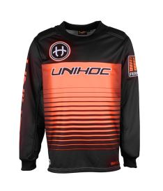 UNIHOC GOALIE JERSEY Inferno black