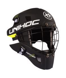 UNIHOC GOALIE HELMET Feather 44 black SR