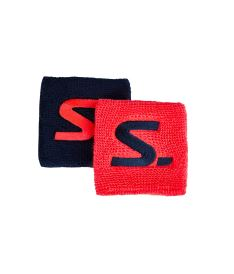 SALMING Wristband Short 2-pack Coral/Navy 8cm