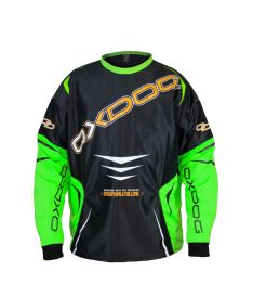 OXDOG GATE GOALIE SHIRT black/green  XS - Brankářský dres