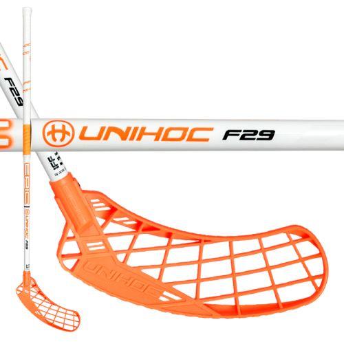 UNIHOC STICK EPIC 29 white/neon orange 100cm R-17 - Floorball-Schläger für Erwachsene