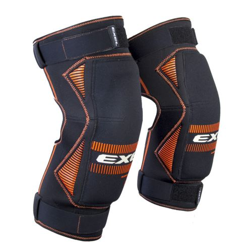 EXEL S100 KNEE GUARD senior black/orange - Pads and vests