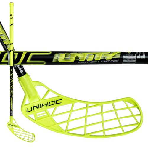UNIHOC STICK UNITY FEATHER LIGHT 26 yellow/black100cmR-17 - Floorball-Schläger für Erwachsene