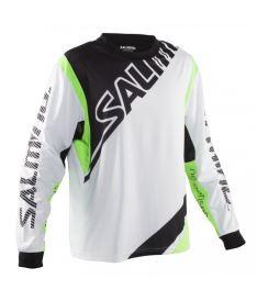 SALMING Phoenix Goalie Jsy SR White/GeckoGreen