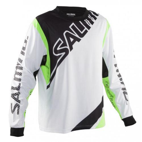 SALMING Phoenix Goalie Jsy SR White/GeckoGreen M - Pullover