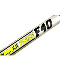 EXEL F40 WHITE 2.6 101 ROUND SB L - Floorball stick for adults