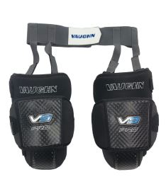 VAUGHN VELOCITY V9 PRO KNEE & THIGH PROTECTOR WITH GARTER BELT black senior