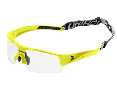 UNIHOC EYEWEAR VICTORY kids neon yellow - Schutzbrillen