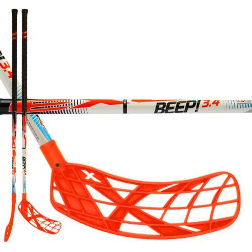 EXEL BEEP! 3.4 white 95 ROUND SB L  - Floorball-Schläger für Erwachsene