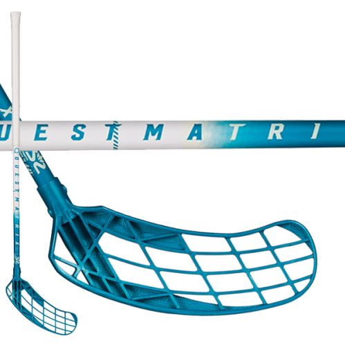 SALMING Matrix 32 White/Blue 82(93) - Floorball sticks for children
