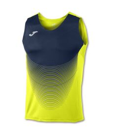 JOMA T-SHIRT ELITE VI YELLOW-NAVY SLEEVELESS