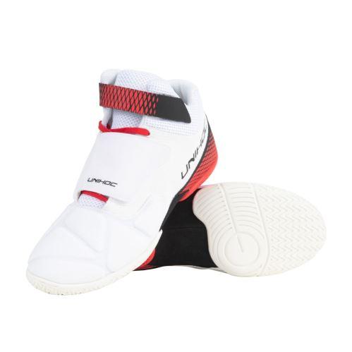 UNIHOC Shoe U4 Goalie white/red - Shoes