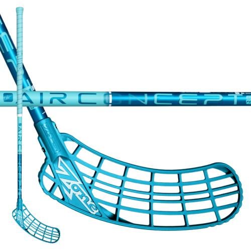 ZONE STICK ZUPER AIR SL CURVE 2.0° 27 turq 104cm R-17 - Floorball-Schläger für Erwachsene