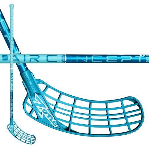 ZONE STICK ZUPER AIR SL CURVE 2.0° 27 turq 104cm L-17 - Floorball stick for adults