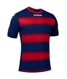 JOMA T-SHIRT EUROPA III DARK NAVY-RED S/S