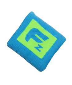 Sportovní potítko FREEZ QUEEN WRISTBAND SHORT neon blue/lime