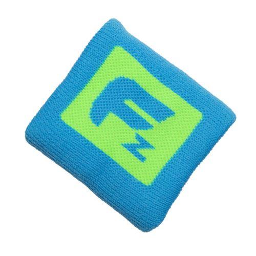 FREEZ QUEEN WRISTBAND SHORT neon blue/lime  - Schweißbänder