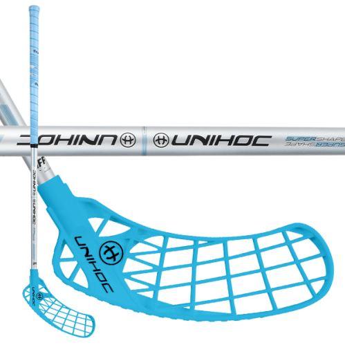 UNIHOC STICK ICONIC Curve 1.5° 35 blue/silver 83cm - Floorball-Schläger für Erwachsene