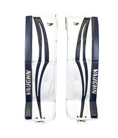 Goalie pads VAUGHN GP VELOCITY V7 XR CARBON PRO white/navy senior - 37+2 Strmen