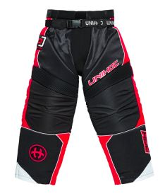 UNIHOC GOALIE PANTS OPTIMA black/neon red XL